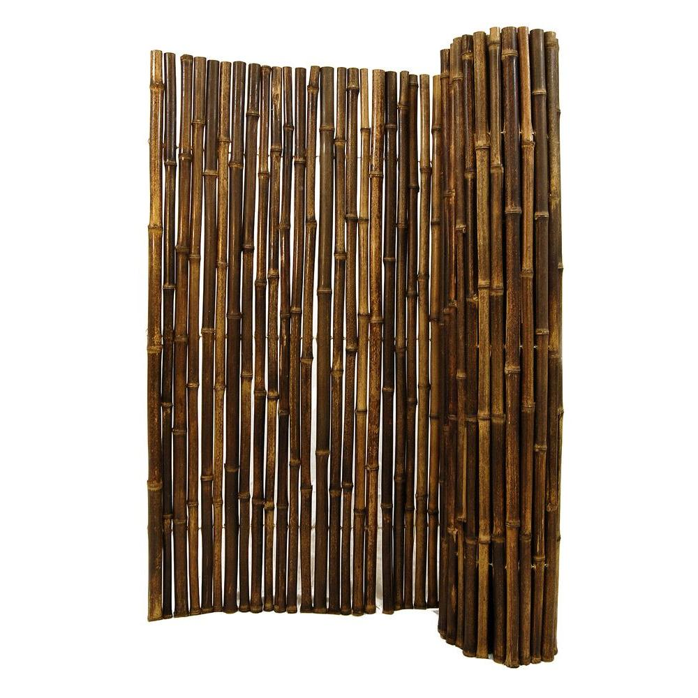 Backyard X Scapes 1 In. D X 4 Ft. H X 8 Ft. W Black Rolled Bamboo Fencing HDD BF12BLACK    The Home Depot