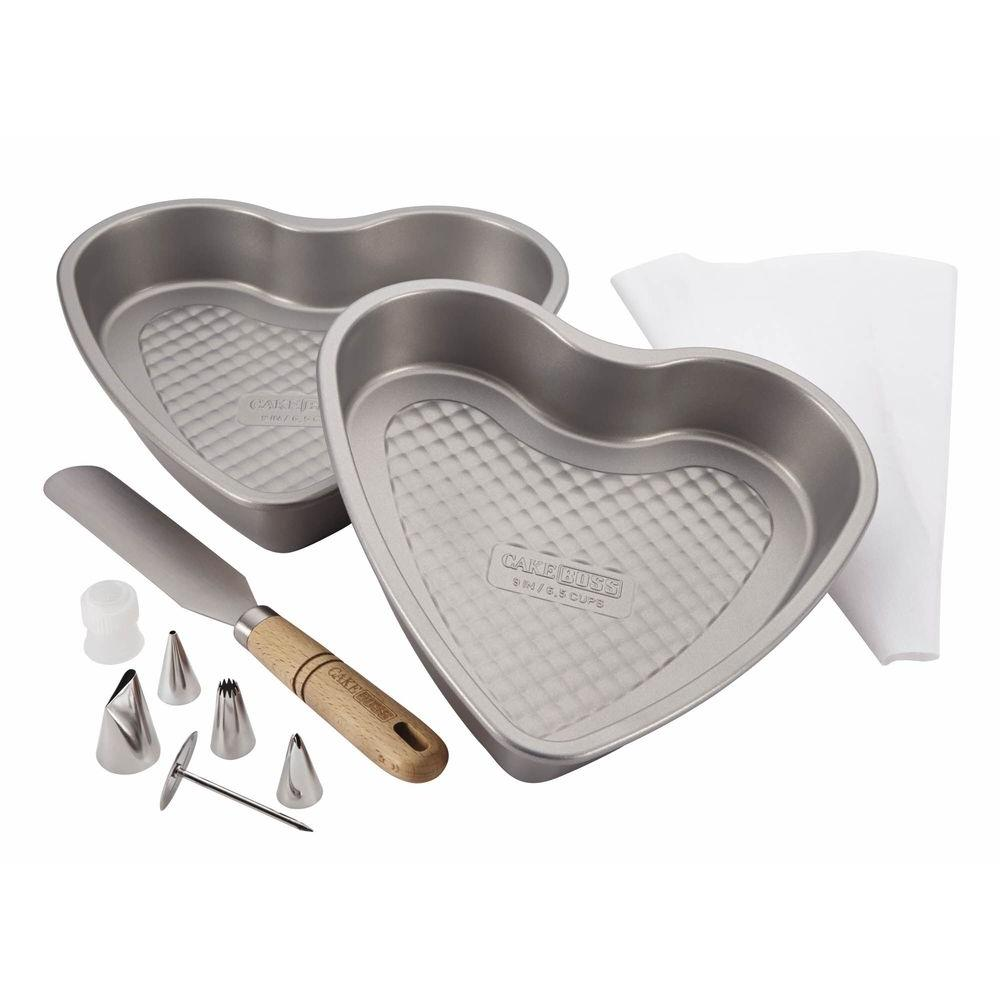 Santa and Heart Bakeware Set