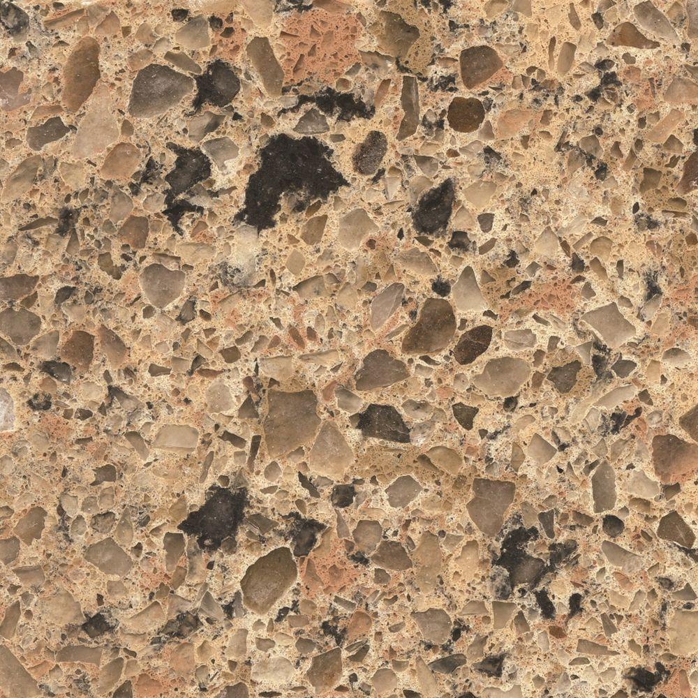Silestone 2 in. Quartz Countertop Sample in Giallo Quarry