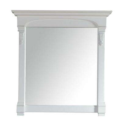 Brookfield 40 in. W x 42 in. H Framed Wall Mirror in Cottage White