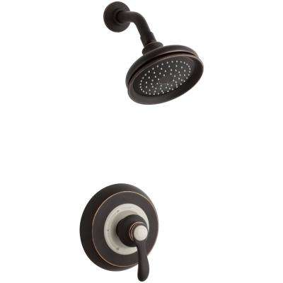 Fairfax 1-Spray 6.5 in. 2.0 GPM Fixed Showerhead with Lever Handle in Oil-Rubbed Bronze