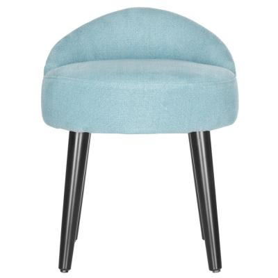Brinda Light Blue Linen Accent Chair