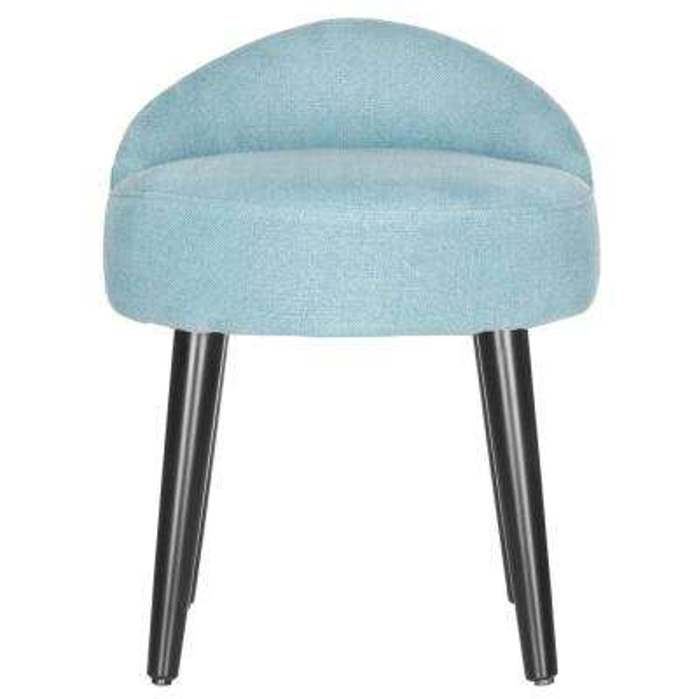 Brinda Light Blue Linen Accent Chair