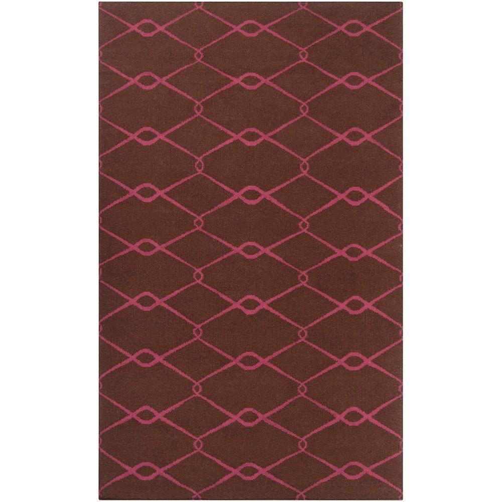 Jill Rosenwald Dark Chocolate 4 ft. x 6 ft. Flatweave Area Rug