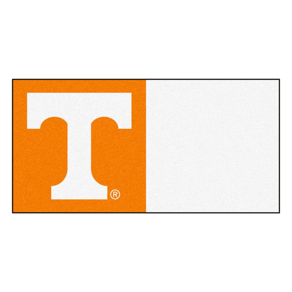 FANMATS NCAA - University of Tennessee Orange and White Nylon 18 in. x 18 in. Carpet Tile (20 Tiles/Case)