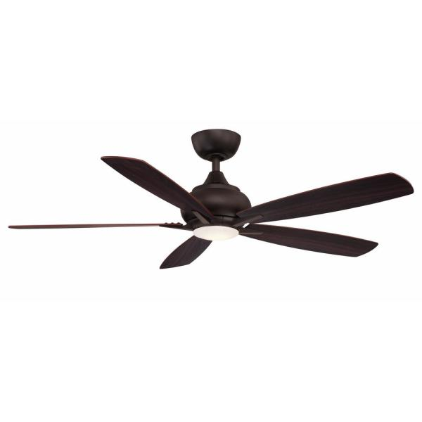 Integrated Led Dark Bronze Ceiling Fan
