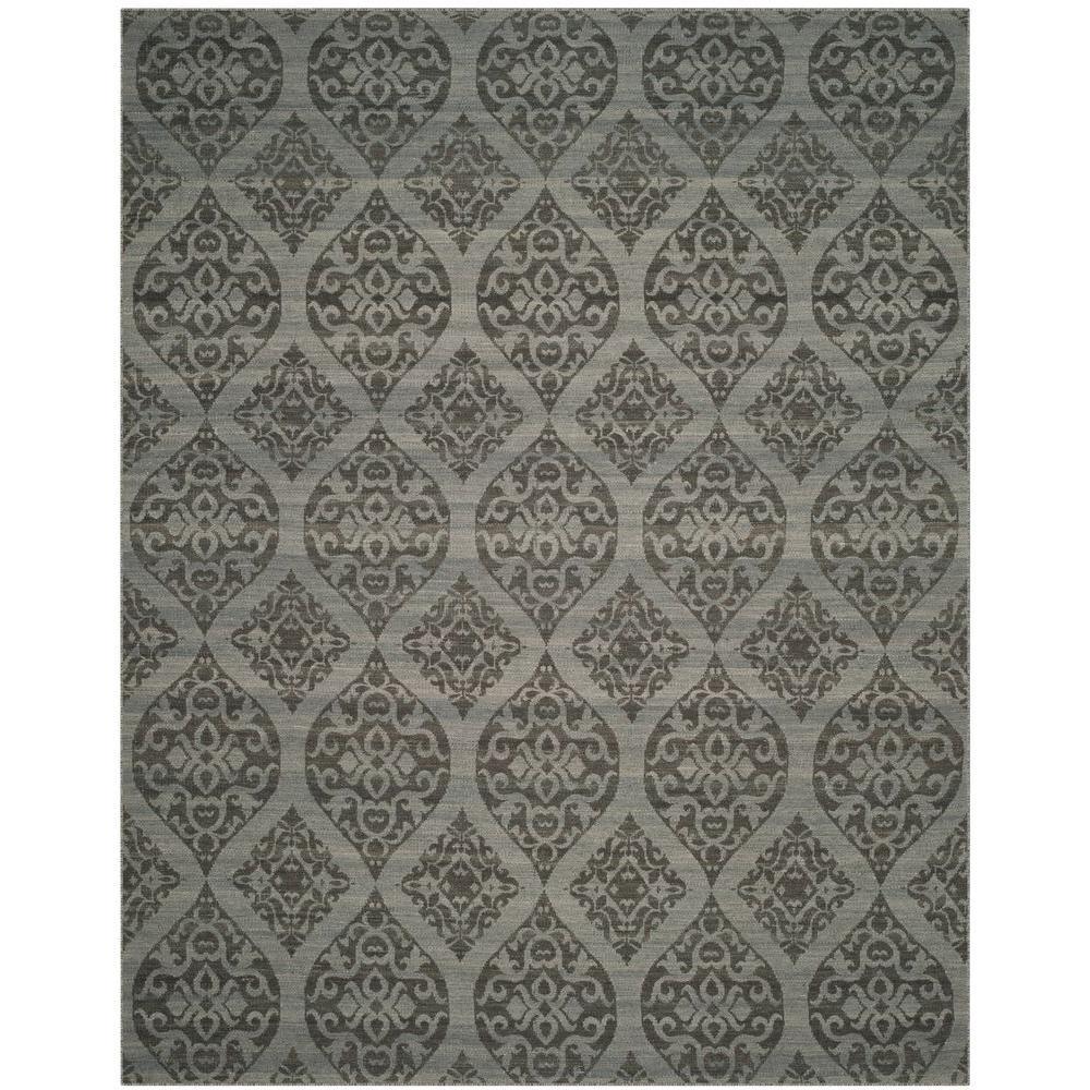 Kilim Grey/Dark Grey 8 ft. x 10 ft. Area Rug