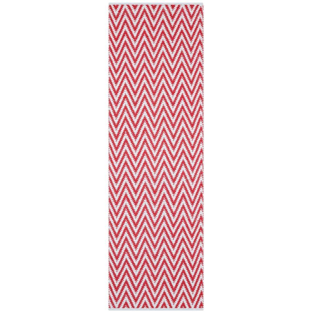 Montauk Red/Ivory 2 ft. x 7 ft. Runner Rug