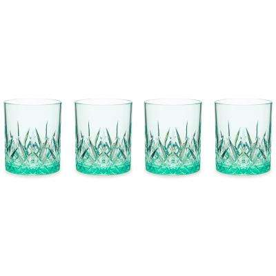 Aurora 23 oz. Green Highball Tumbler (Set of 4)