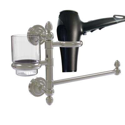 Dottingham Collection Hair Dryer Holder and Organizer in Polished Nickel