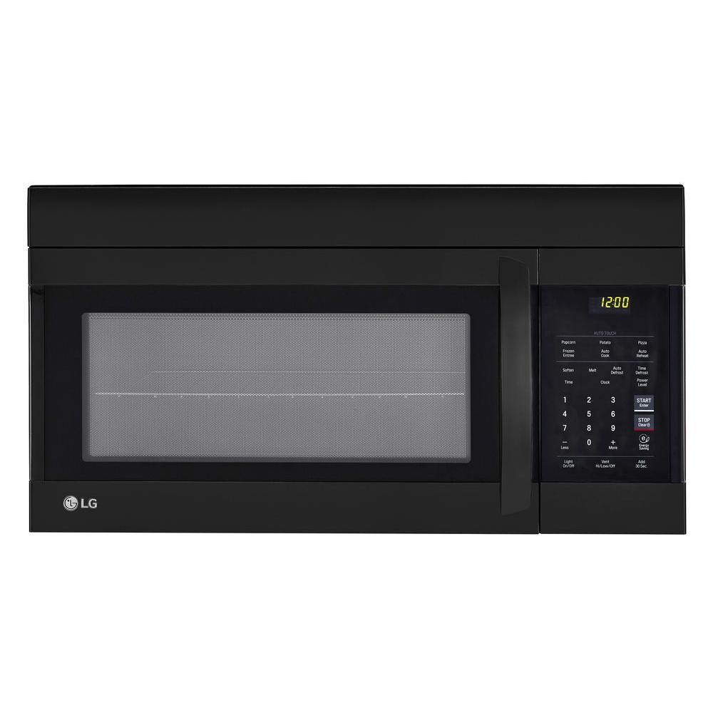LG 1.7 cu. ft. Over the Range Microwave Oven in Black wit...
