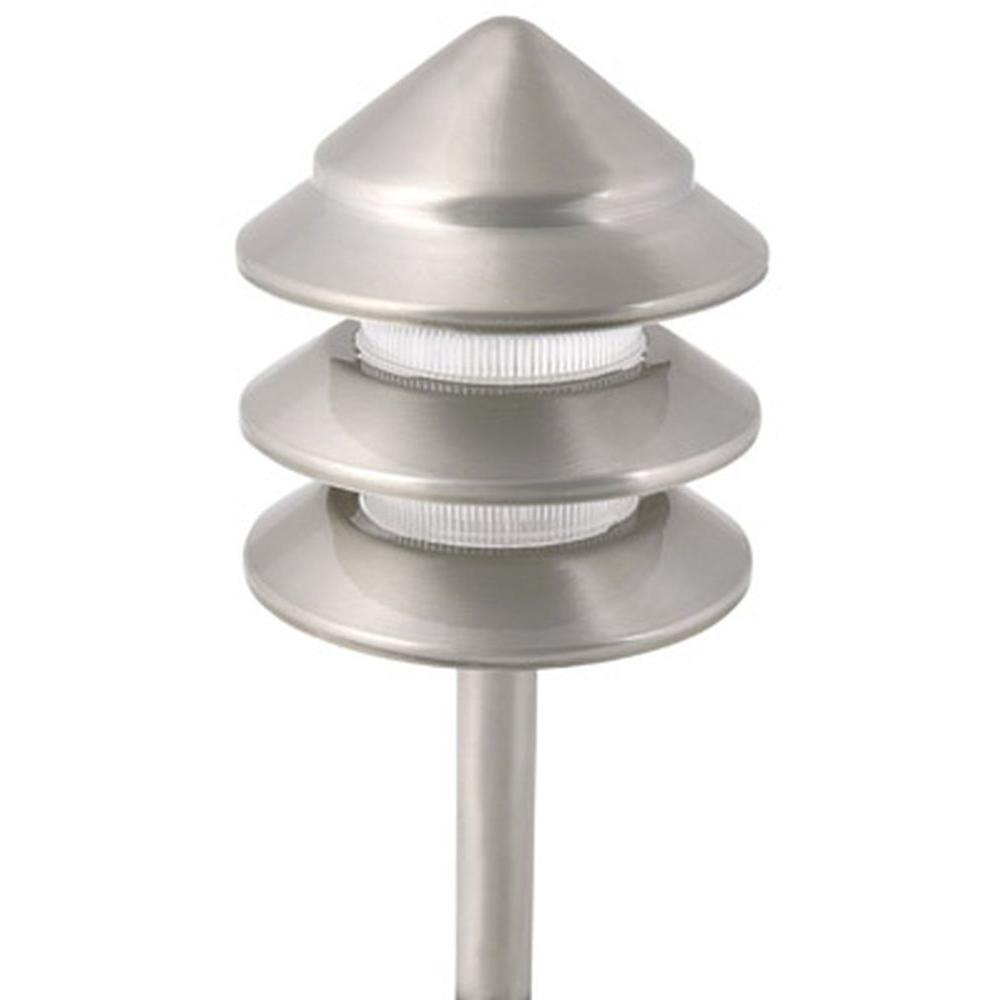 Moonrays Holton-Style Low-Voltage 11-Watt Nickel 3-Tier Metal Outdoor Path Light