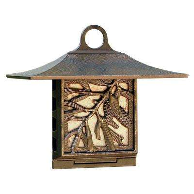 French Bronze Pinecone Suet Feeder