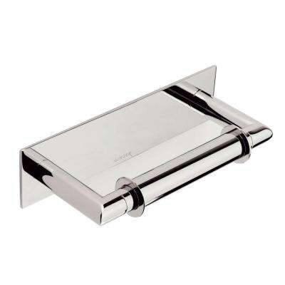 surface double post toilet paper holder in polished chrome