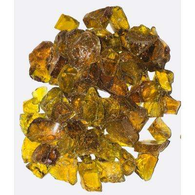 10 lbs. Large Crystal Amber Fire Glass