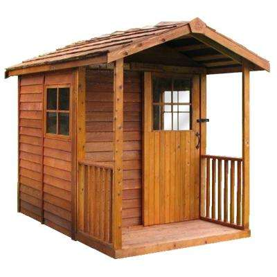 Gardener's Delight 6 ft. 11 in. x 10 ft. 2 in. Western Red Cedar Garden Shed