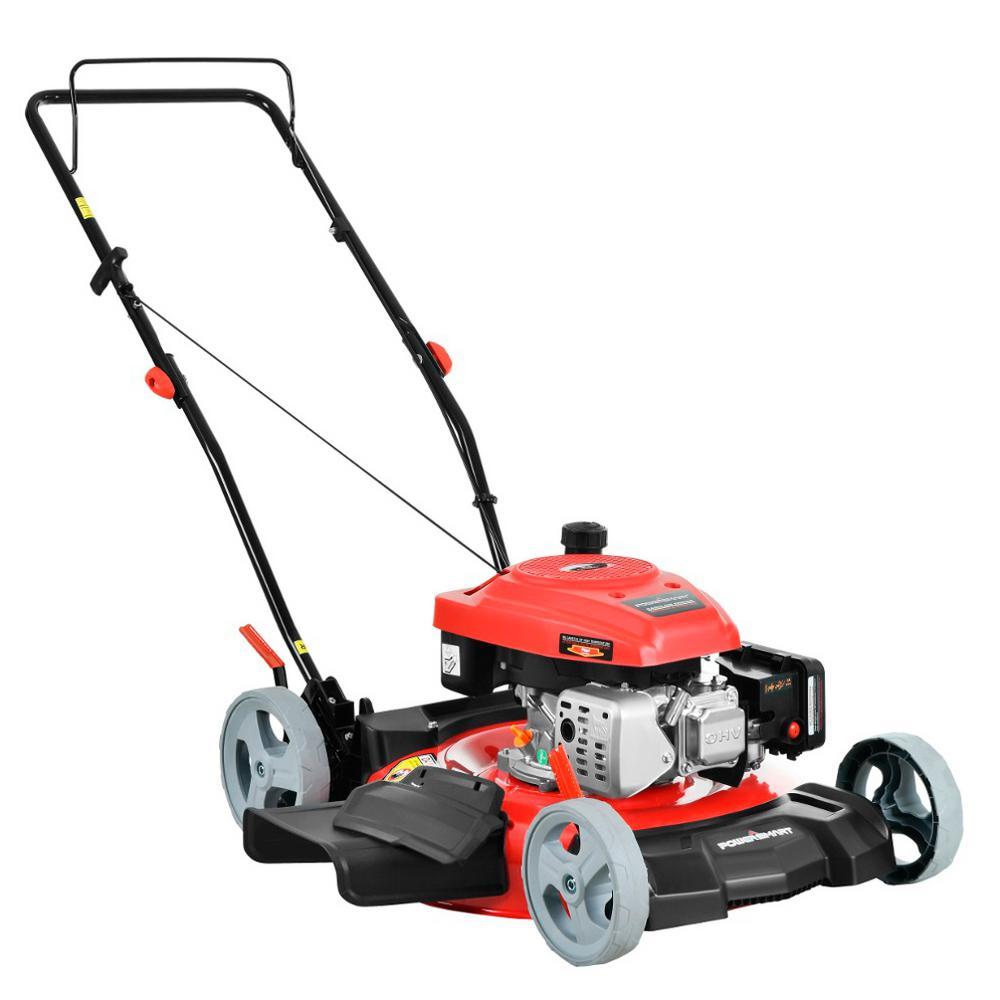Stand Behind Lawn Mower >> Powersmart 21 In 2 In 1 161cc Gas Push Walk Behind Lawn Mower