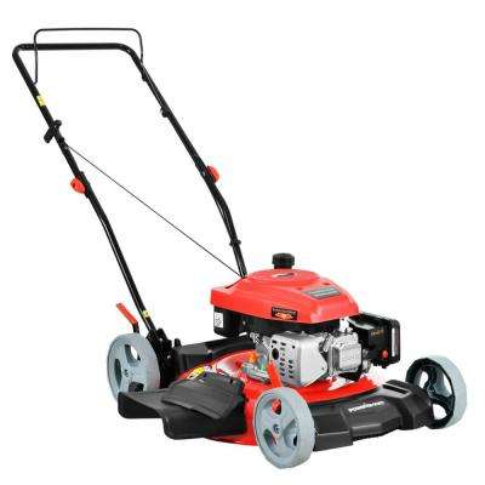 21 in. 2-in-1 161cc Gas Push Walk Behind Lawn Mower