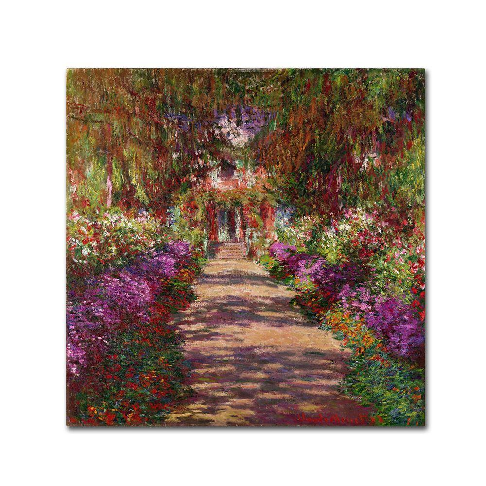 14 in. x 14 in. A Pathway in Monets Garden Canvas