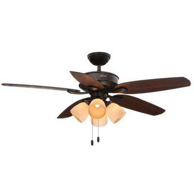 Channing 52 in. Indoor New Bronze Ceiling Fan with Light Kit