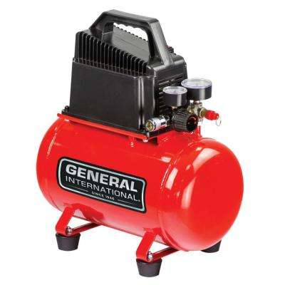3 Gal. 1/3 HP Oil-Free Portable Electric Hot Dog Air Compressor