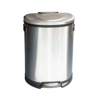 Cress 13.2 Gal. Stainless Steel Curved Trash Can