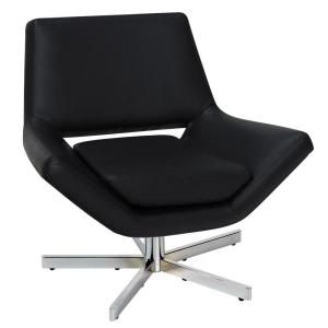 Yield Black Faux Leather Office Chair
