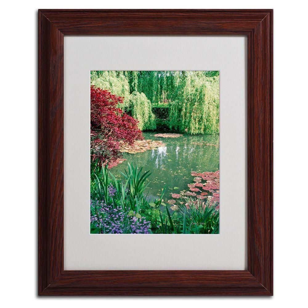null 11 in. x 14 in. Monets Lily Pond 2 Matted Framed Art