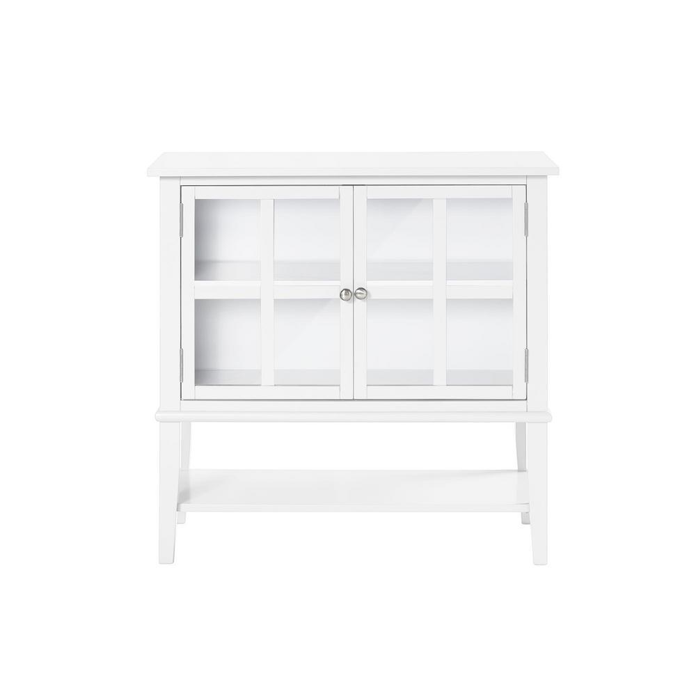 Queensbury 2-Door White Storage Cabinet