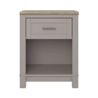 Viola Gray/Light Brown Nightstand