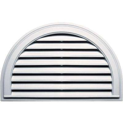 22 in. x 34 in. Half Round Gable Vent in Bright White