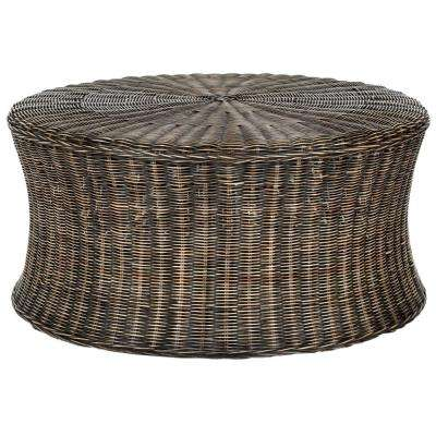 Ruxton Dark Brown Cocktail Ottoman