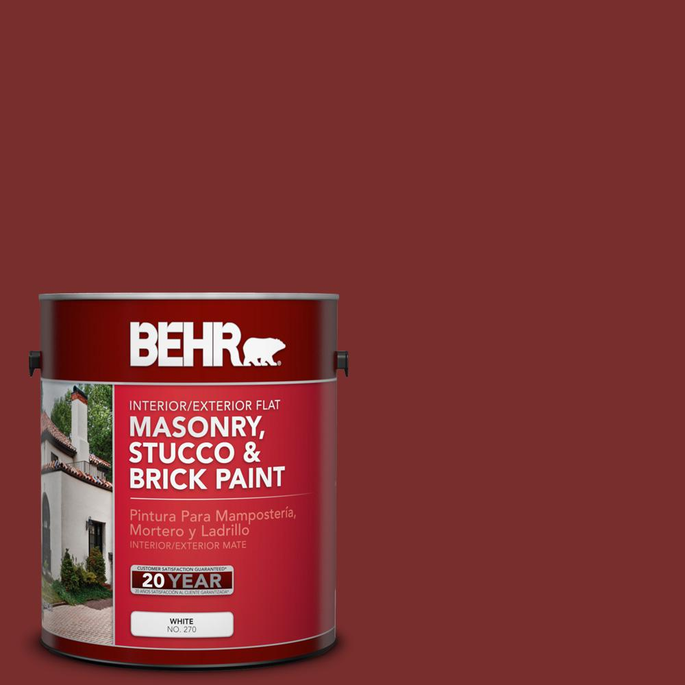 Ppu2 02 Red Pepper Flat Interior Exterior Masonry Stucco And Brick Paint