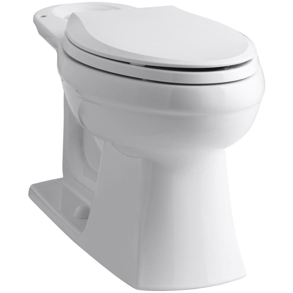kohler kelston elongated toilet bowl only in white k 4306 0 the home depot. Black Bedroom Furniture Sets. Home Design Ideas