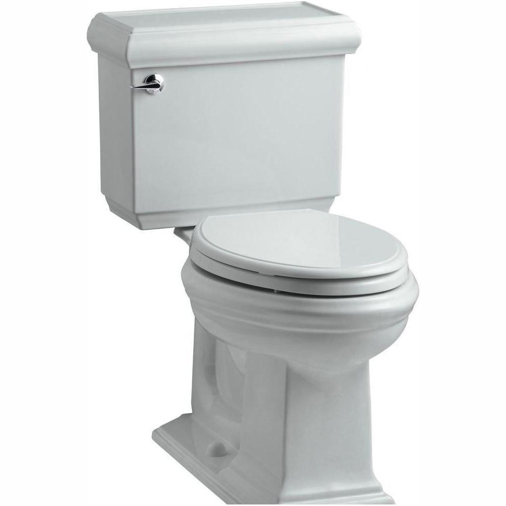 Memoirs Classic 2-piece 1.28 GPF Single Flush Elongated Toilet with AquaPiston Flush Technology in Ice Grey