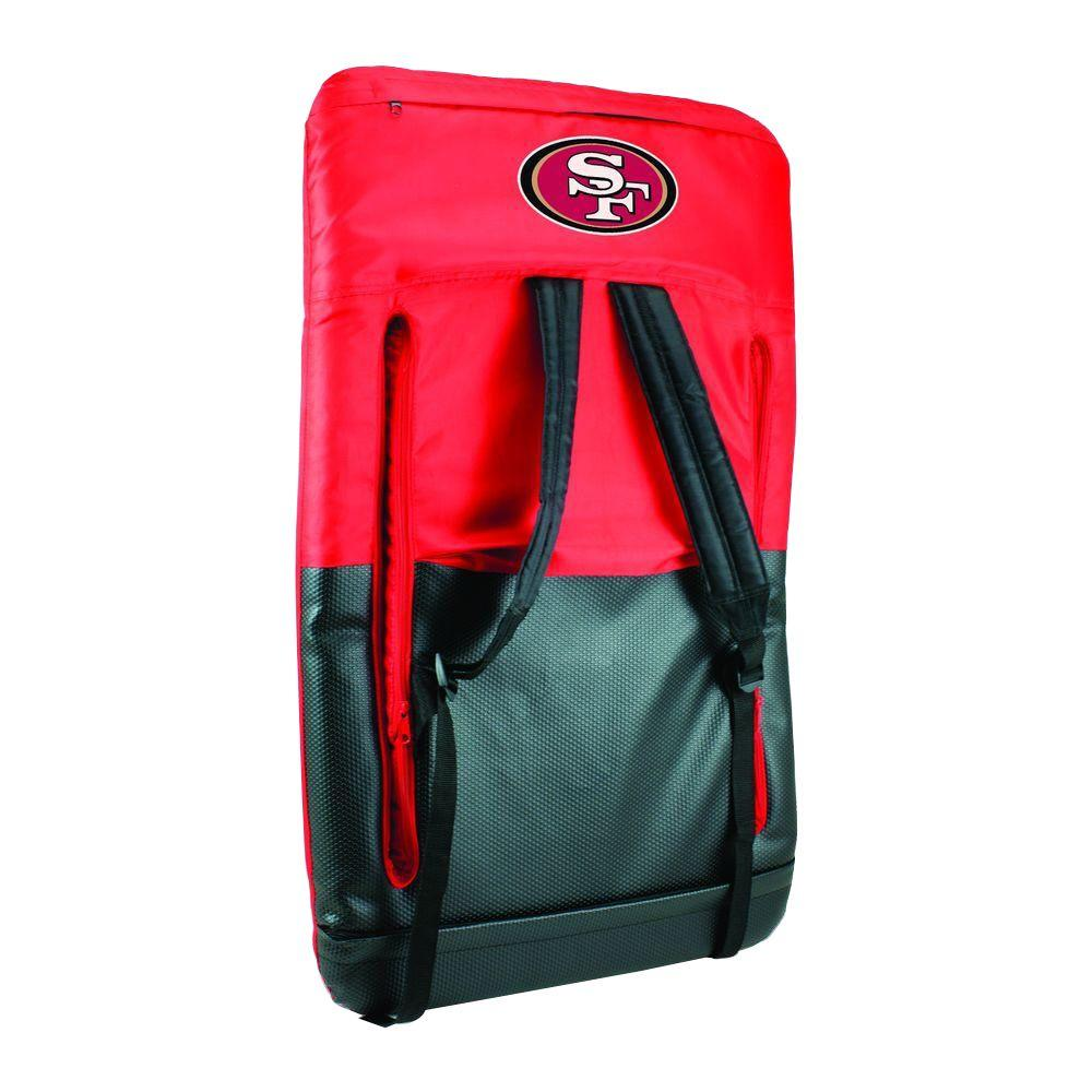 Picnic Time Ventura San Francisco 49ers Red Patio Sports Chair with Digital Logo