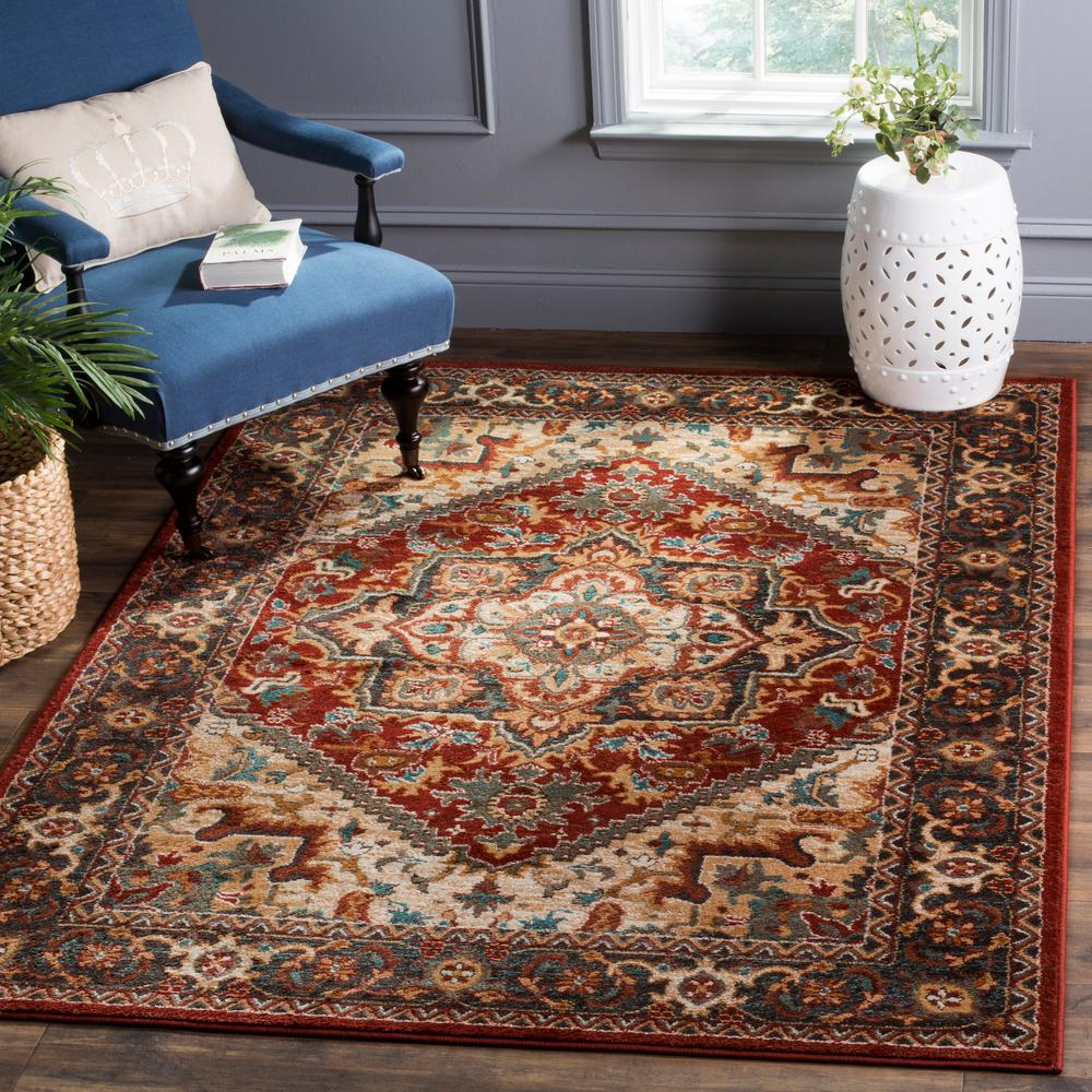 Safavieh Summit Red Dark Gray 8 Ft X 10 Ft Area Rug