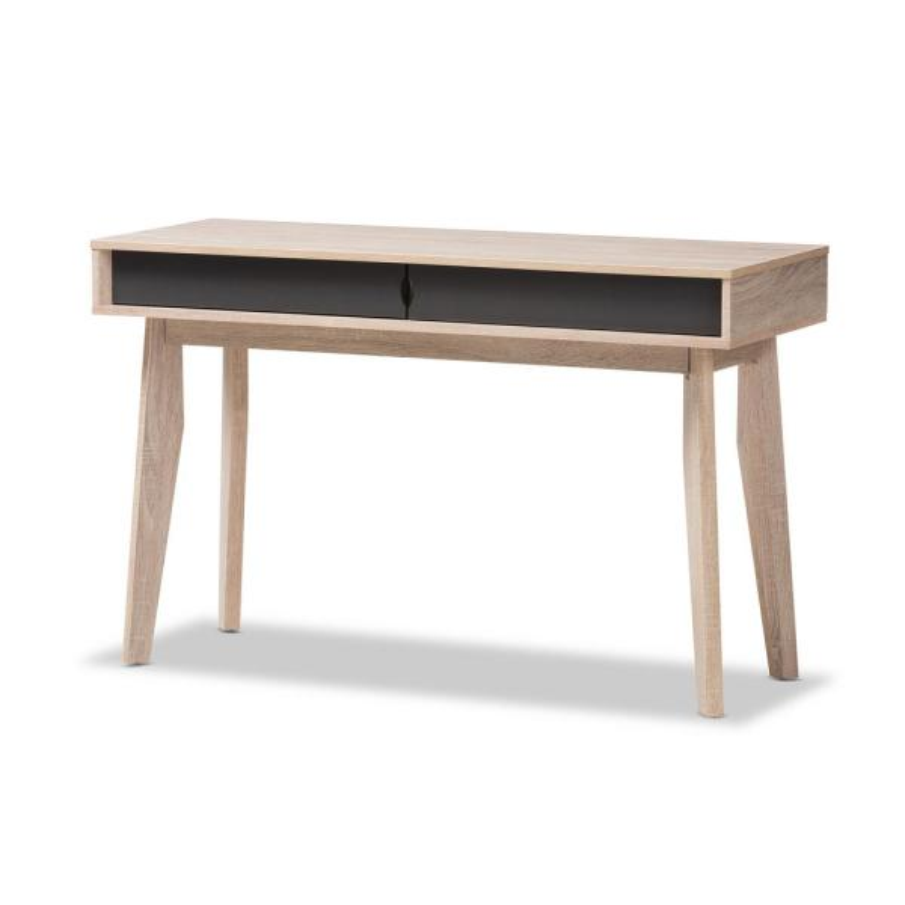 Cool Baxton Studio 2 Drawer Fella Light Brown Wood Desk 28862 Download Free Architecture Designs Embacsunscenecom