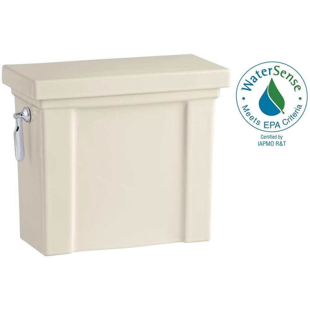 Tresham 1.28 GPF Single Flush Toilet Tank Only with AquaPiston Flushing Technology in Almond