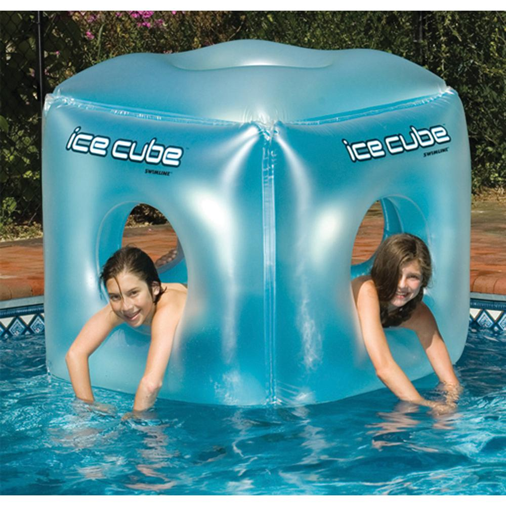 Swimline Ice Cube Swimming Pool Float-9073 - The Home Depot