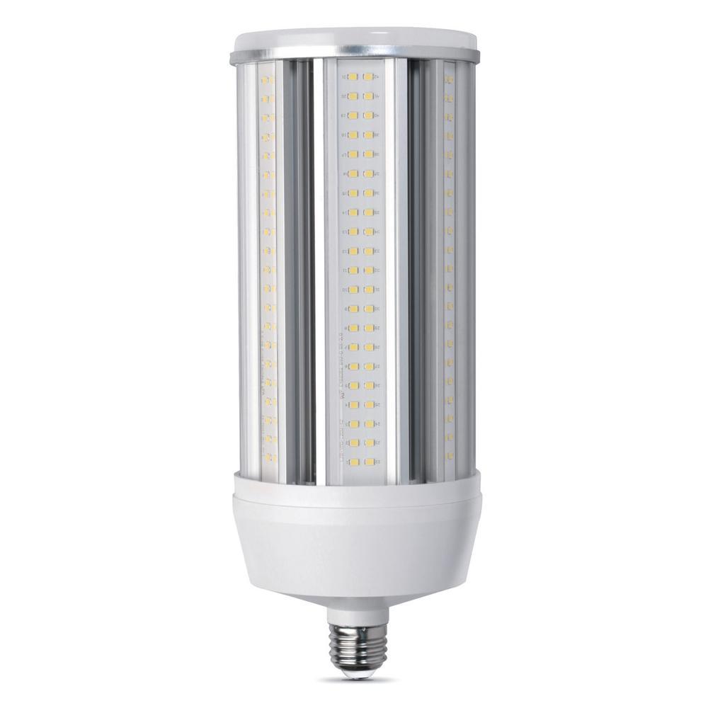 750-Watt Equivalent Corn Cob Daylight (5000K) LED High Lumen Utility Light Bulb (4-Pack)