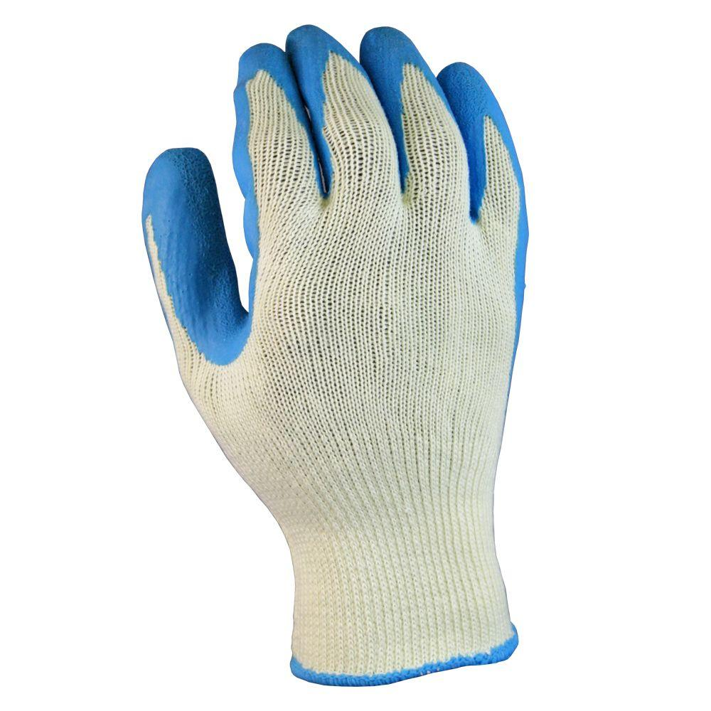 Firm Grip Latex-Coated Cotton Large Work Gloves