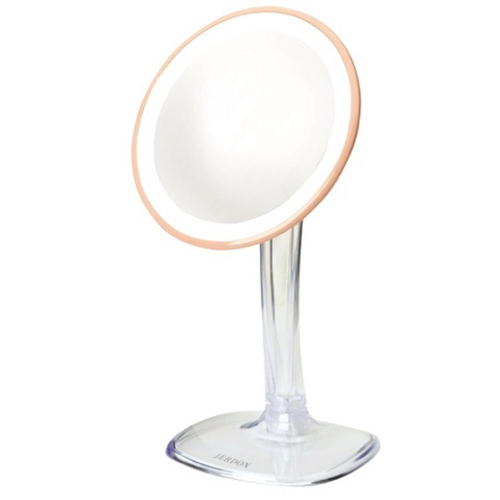 7.25 in. x 16 in. LED Lighted Table Mirror with Rechargeable