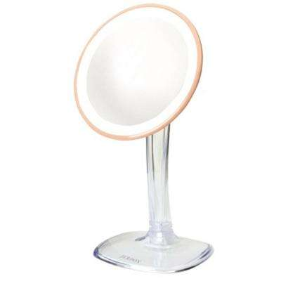 7.25 in. x 16 in. LED Lighted Table Makeup Mirror with Rechargeable Battery