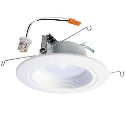 5 in. and 6 in. White Integrated LED Recessed Downlight Trim with Selectable Color Temperature