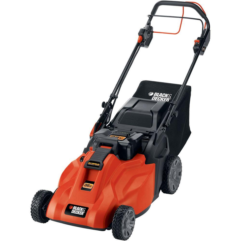 BLACK+DECKER 19 in. 36-Volt Cordless Electric Self Propelled Mower with Removable Battery