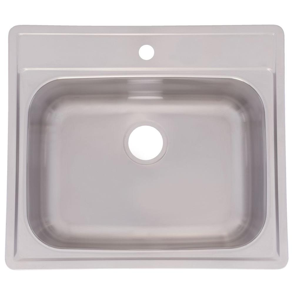 FrankeUSA Drop-In Stainless Steel 25x22x10 1-Hole Single Basin Kitchen Sink-DISCONTINUED