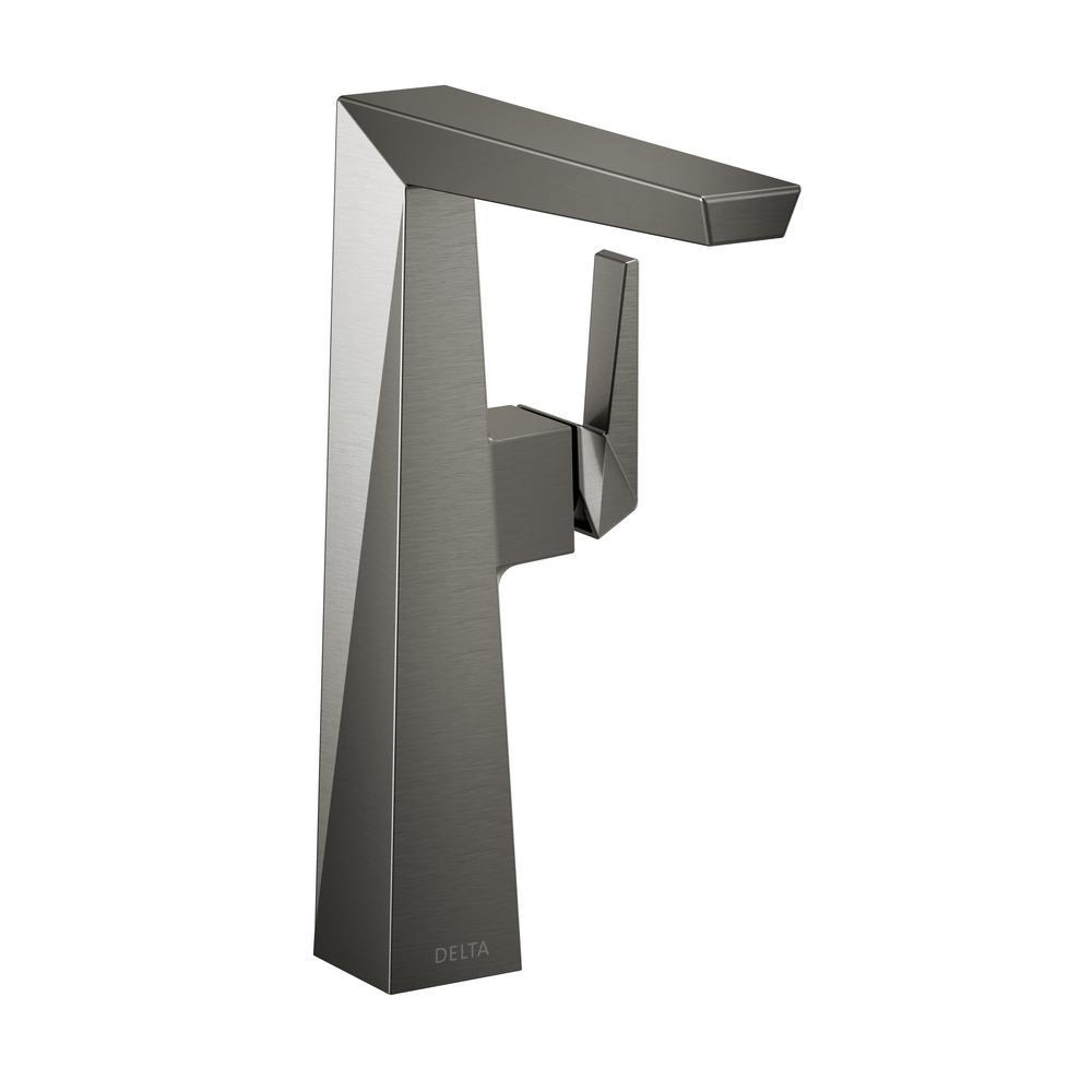 Trillian Single Hole Single-Handle Vessel Bathroom Faucet in Black Stainless