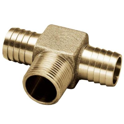 3/4 in. Barb x 3/4 in. MPT x 3/4 in. Barb Brass Hydrant Insert Tee Fitting