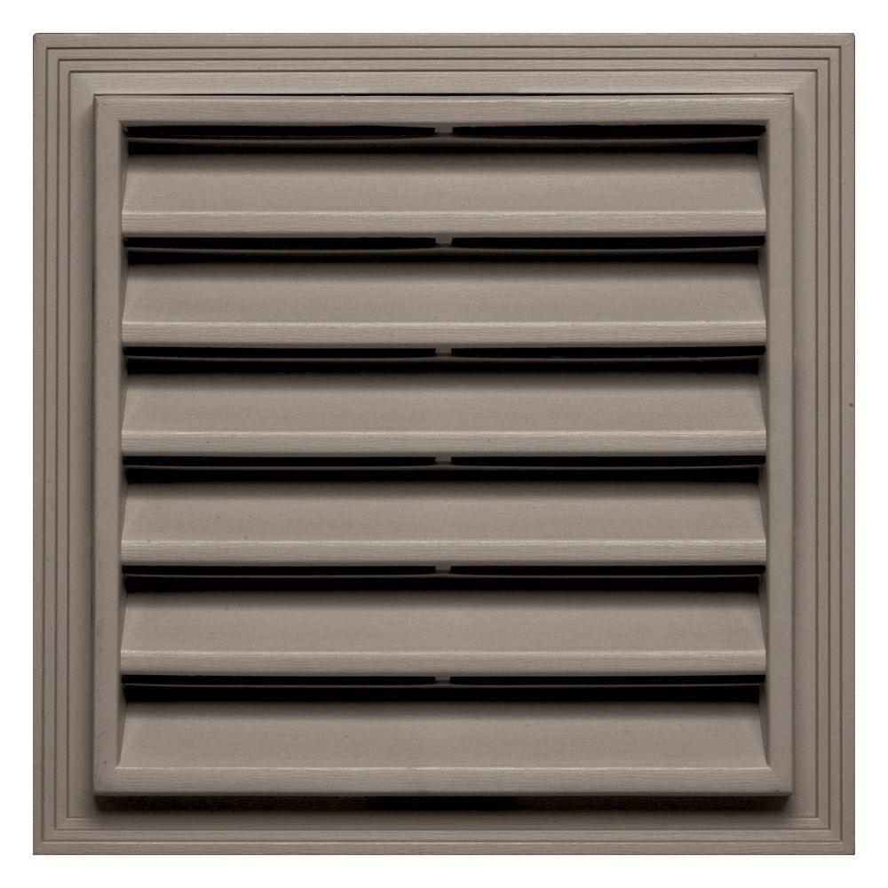 Builders Edge 12 in. x 12 in. Square Gable Vent in Clay